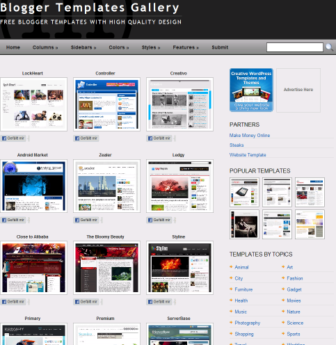 Free Blogger Templates with High Quality Design