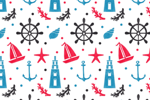 Sea Nautical Pattern by Haidi Shabrina