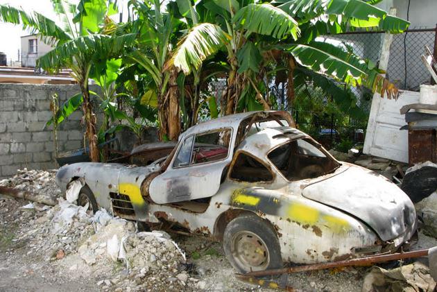Just A Car Guy Mercedes Gullwing Found On Cuba A