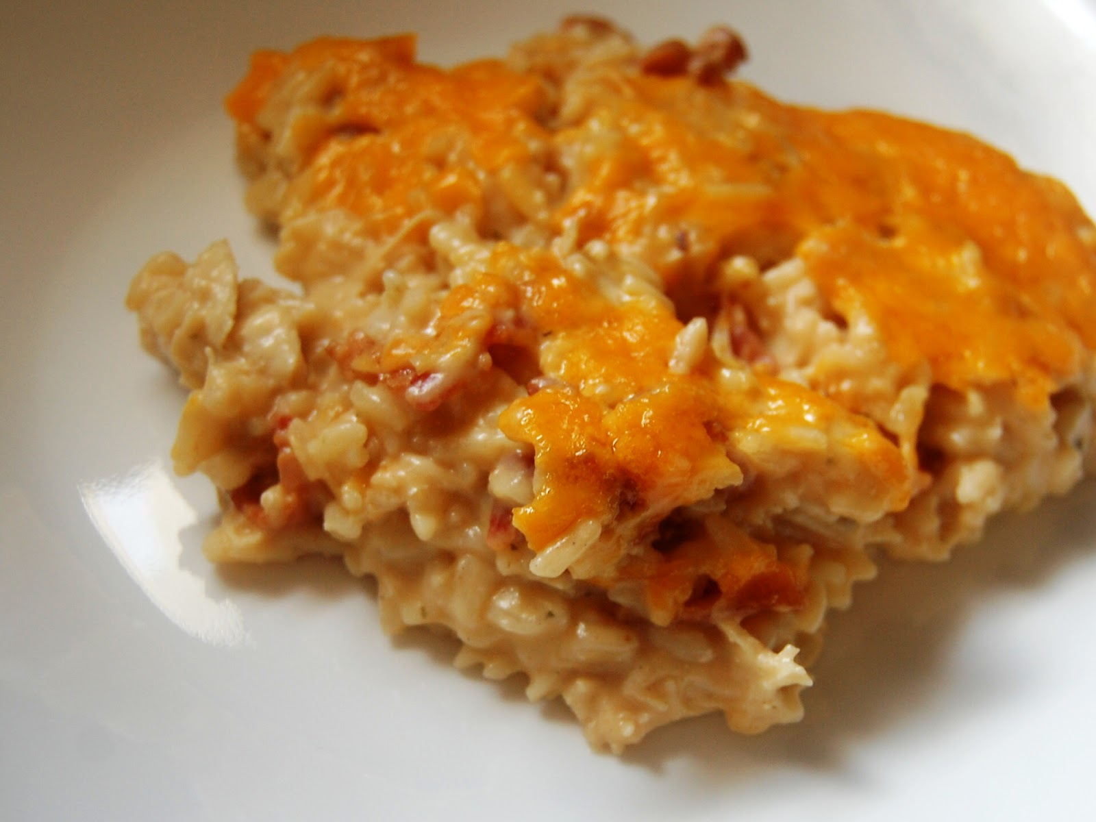Quick Chicken And Rice Casserole Chicken cheddar bacon ranch