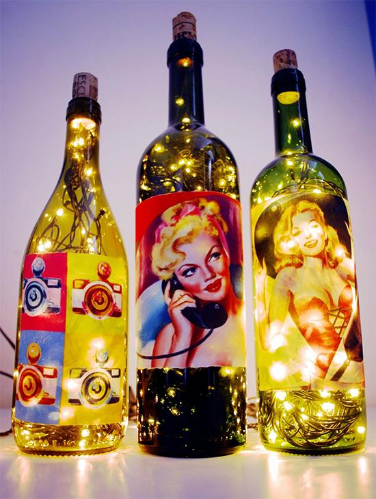 fio de luz, pisca pisca, luz de Natal, christmas light, Natal, decoração, diy, faça você mesmo, luminaria, garrafa reciclada, luminaria garrafa, bottle light