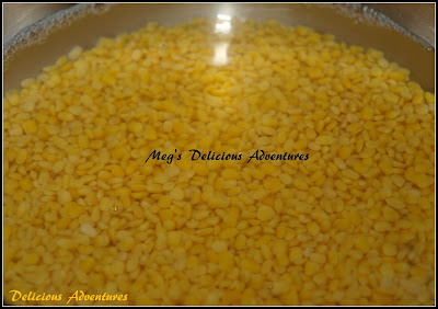 Soaked Moong dal