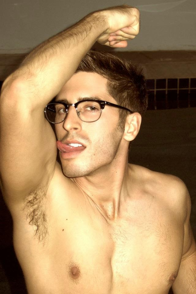 Young Hipster Jock's Hairy Armpits