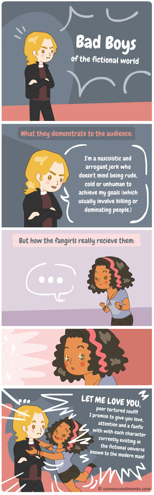 Fangirls looove the bad guys, even if they're psycho killers