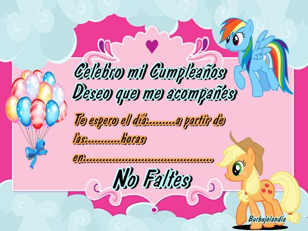 TARJETAS para cumpleaños DE MY LITTLE PONY - Imagui