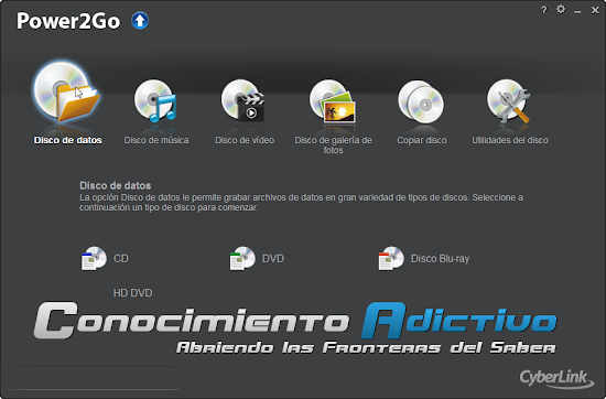 Descargar cyberlink power2go 8 gratis completo