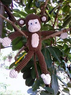 Crochet Amigurumi Monkey, Amigurumi Monyet, Boneka Monyet, Pola Rajut