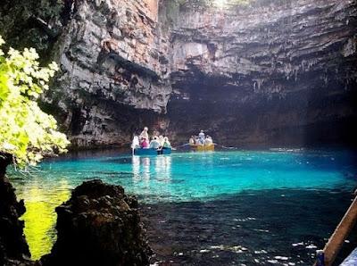 Melissani Lake, cave