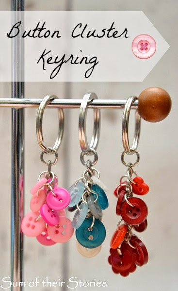 How to make a button cluster key ring