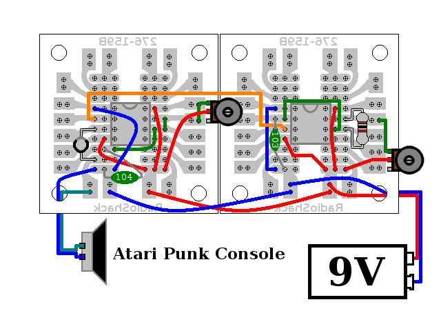 hobby electronix atari punk console redux diagram 3 the third diagram is copy of the second diagram which i used as i was ering the project as i finished ering each component and wire