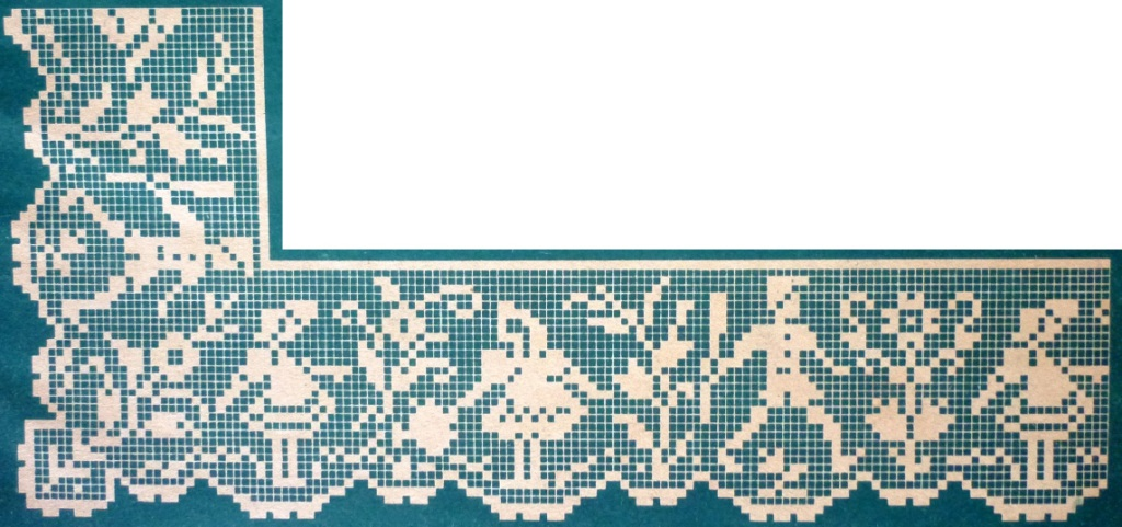 Филейное вязание бордюры 30