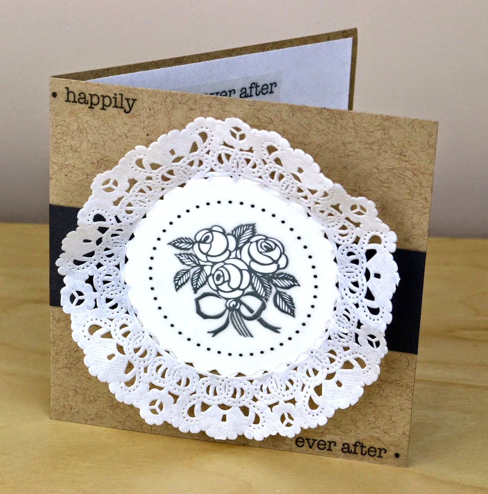 SRM Stickers Blog - Wedding Table Setting by Cathy A. - #wedding #favors #table #doilies #punchedpieces #stickers #love #clearcontainers