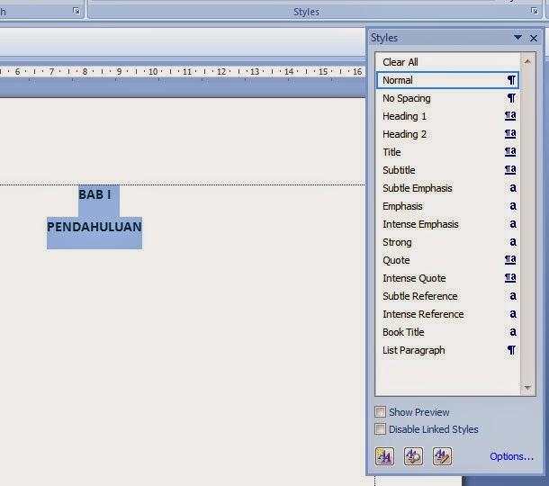 Cara Membuat Daftar Isi Otomatis di Ms Word - Belajar