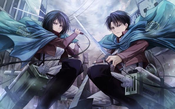 mikasa ackerman and levi anime attack on titan shingeki no kyojin 1920x1200 9q