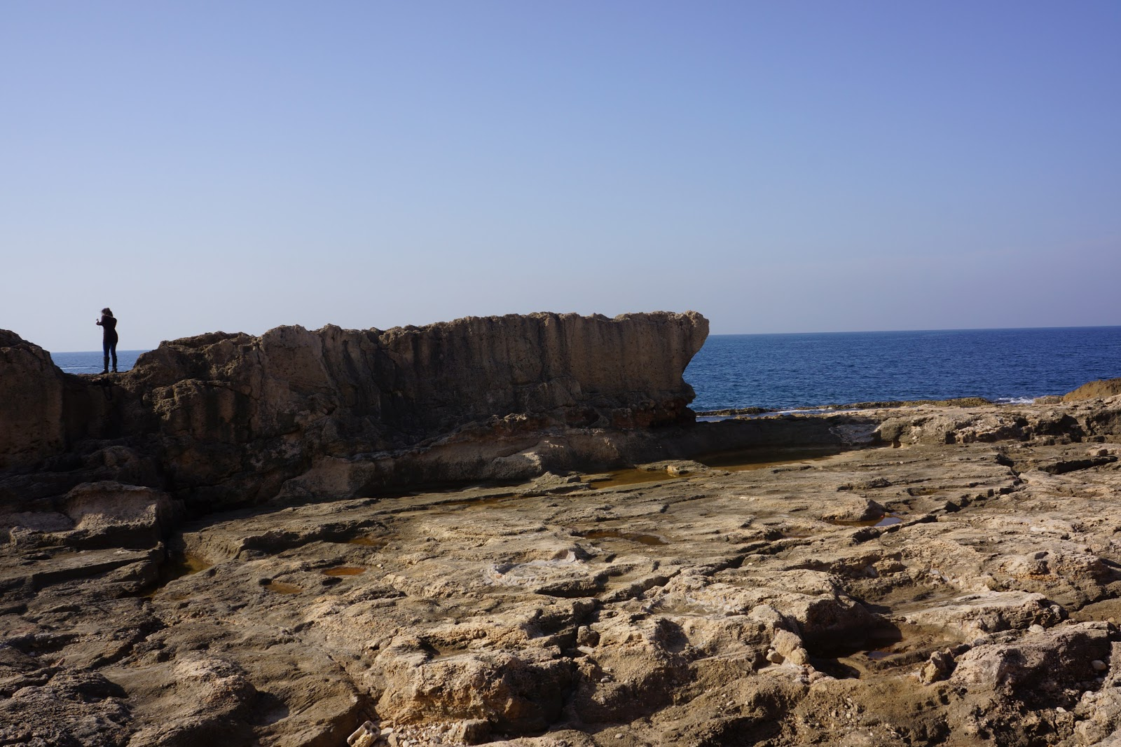 Picture of the Phoencian maritime wall. Batroun, Lebanon.