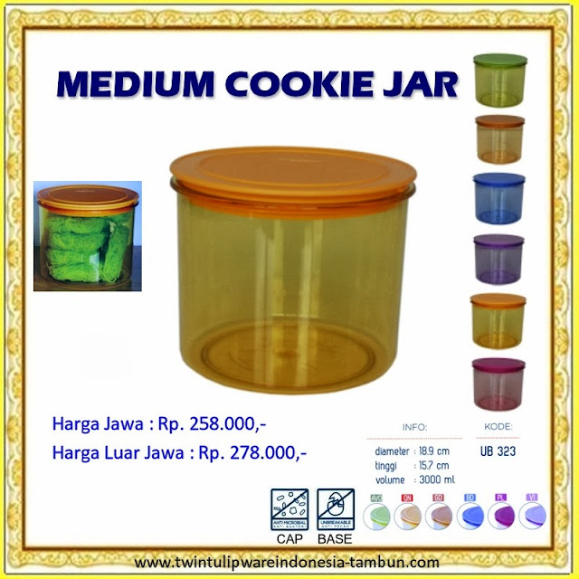 Medium Cookie Jar Tulipware 2013