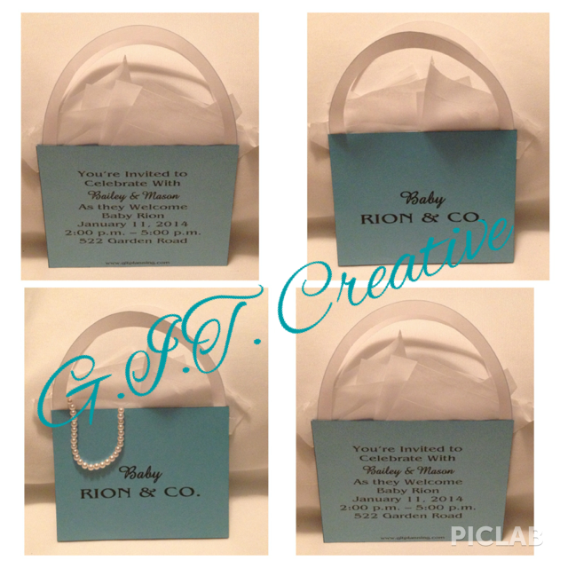 Tiffany Bag Style Invitations