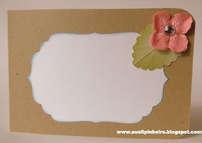 Tarjeta de flores hecha con filtro de café