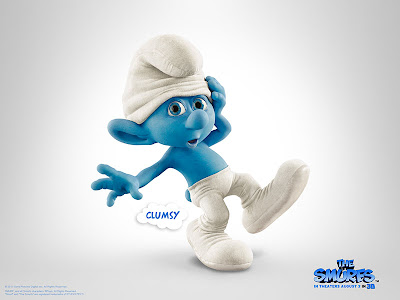 The Smurfs movie official poster of clumsy