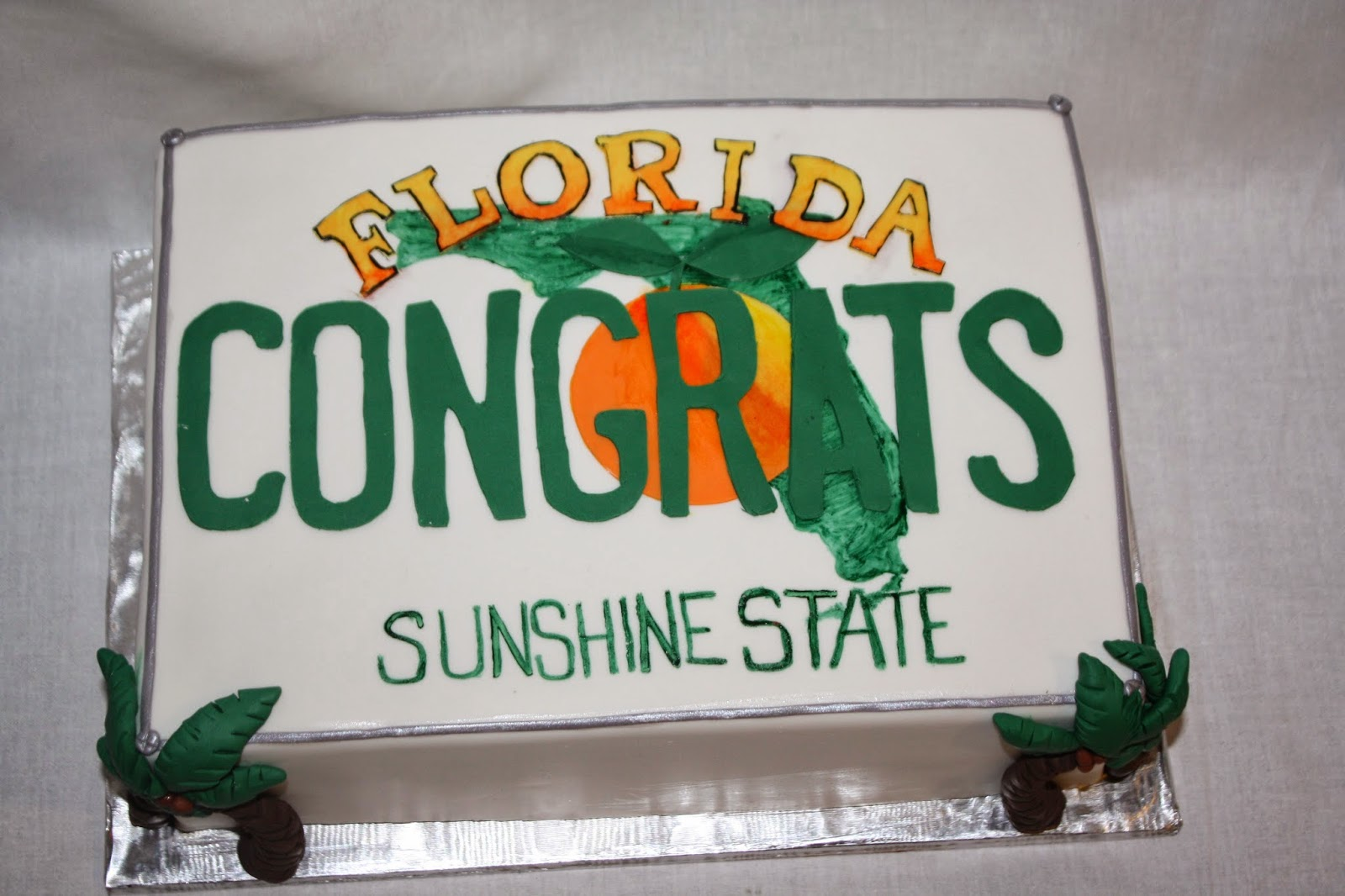Florida License Plate Cake & Hock Cakes LLC: Florida License Plate Cake