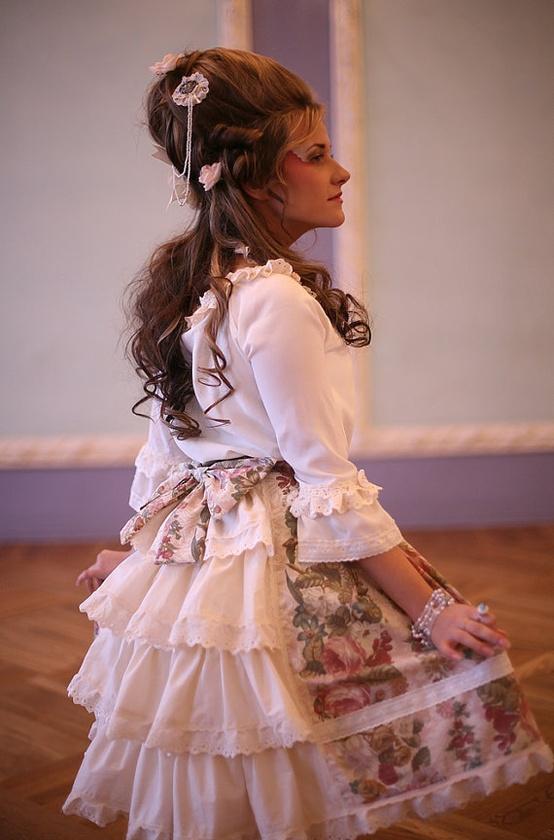fashion floral rococo lolita clothing