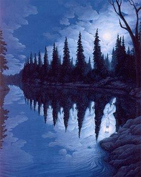 Pintura con ilusión óptica.