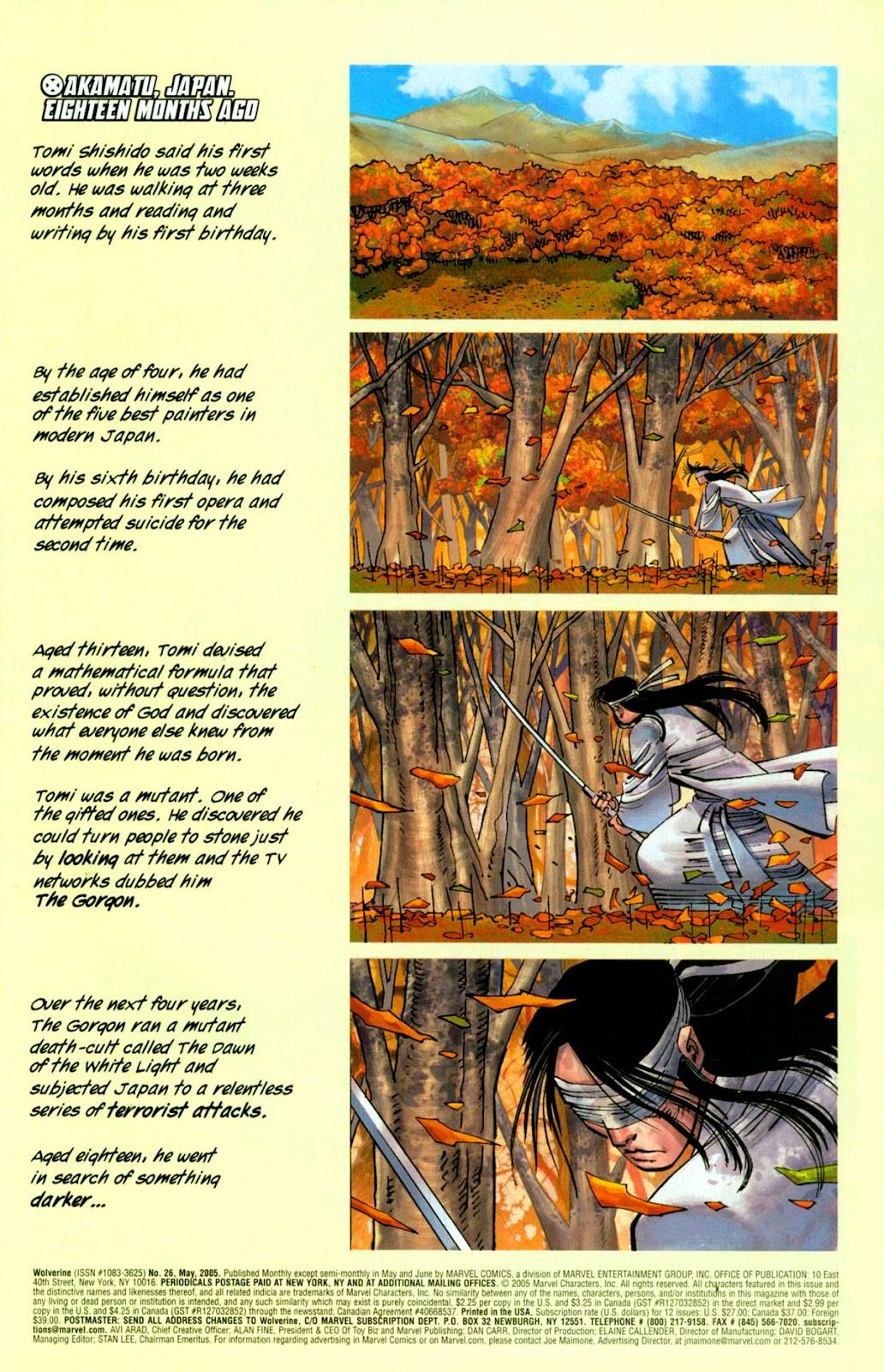 Read online Wolverine (2003) comic -  Issue #26 - 2