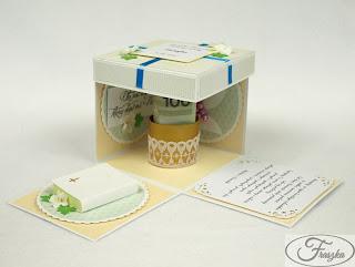 Ręcznie robione pudełko na Komunię