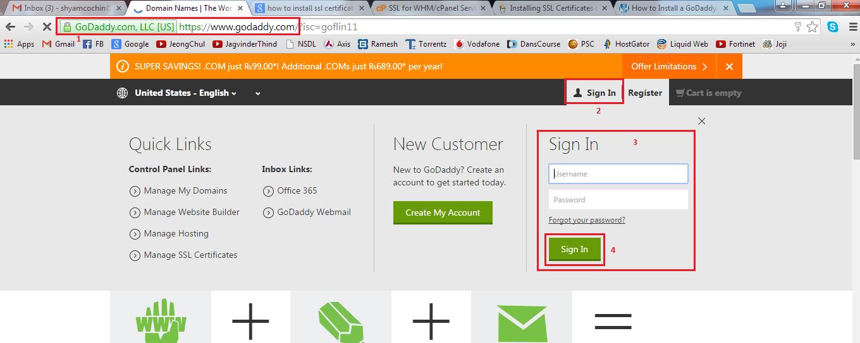 Basic It Informations Install Godaddy Ssl Certificate Using Whm