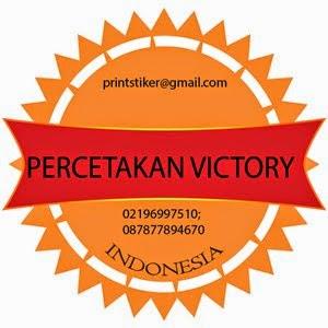 PERCETAKAN VICTORY - Spesialis Cetak Stiker Vinil