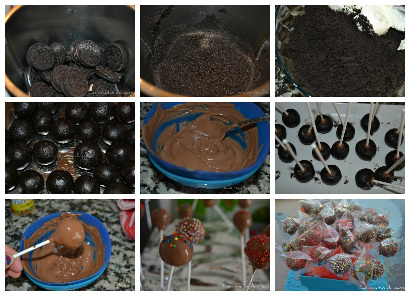 Cake Pop Oreo Receta