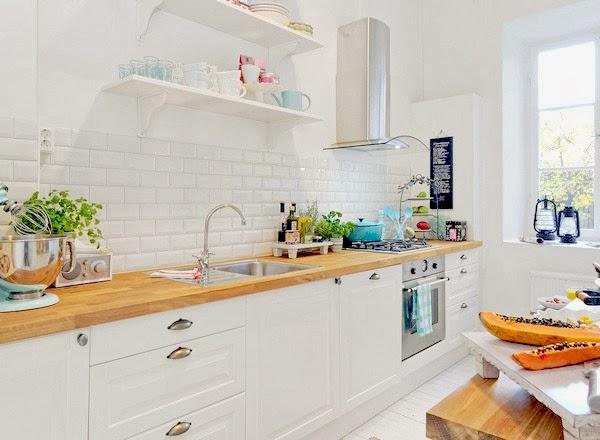 Blog wnetrzarski Cleo inspire dekoracje,aranzacje,wnetrza,diy,inspiracje -> Kuchnia Biale Cegly