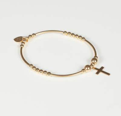 Bella Jane Jewellery Gold Cross Bracelet