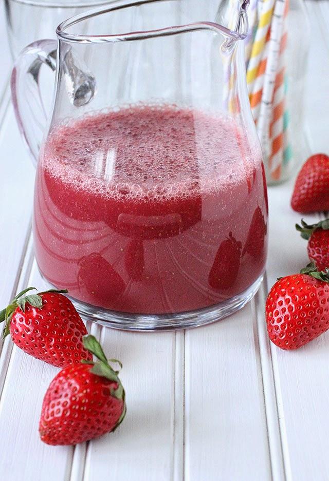 ambrosia: Strawberry Grapefruit and Pomegranate Smoothie