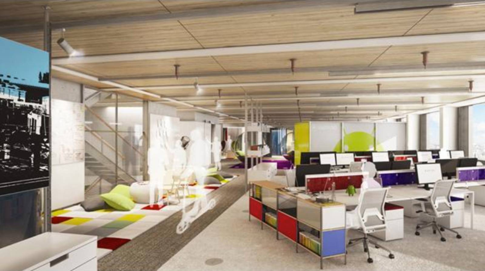 Google 39 s new headquarters by allford hall monaghan morris for Office design google