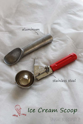 aluminum and stainless steel ice cream scoop