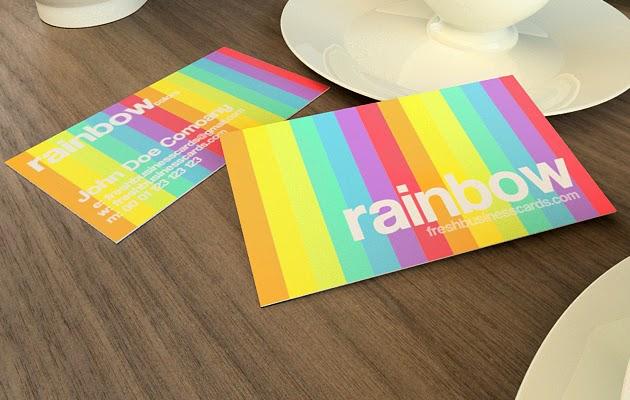 Rainbow Business Card Template PSD