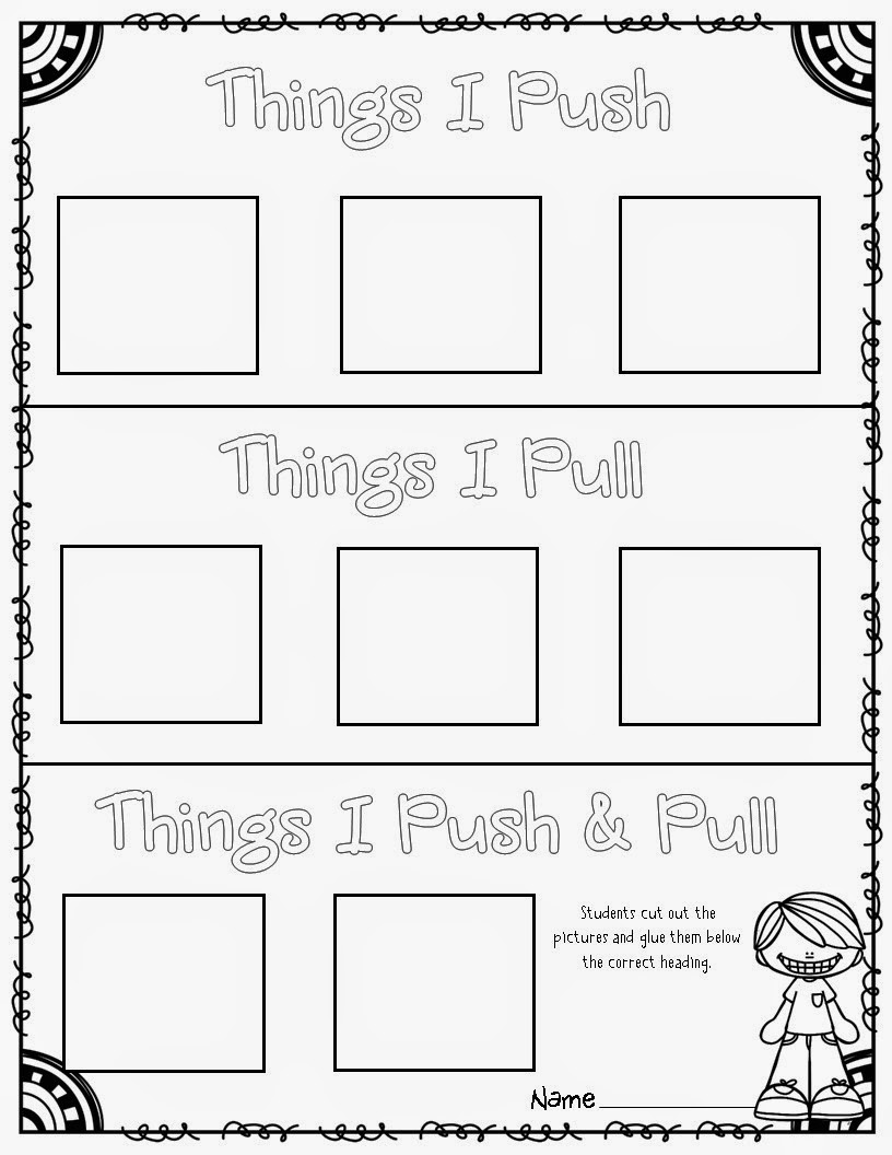Force Worksheet - Push or Pull