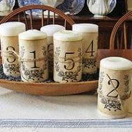 Meseros velas romanticos vintage