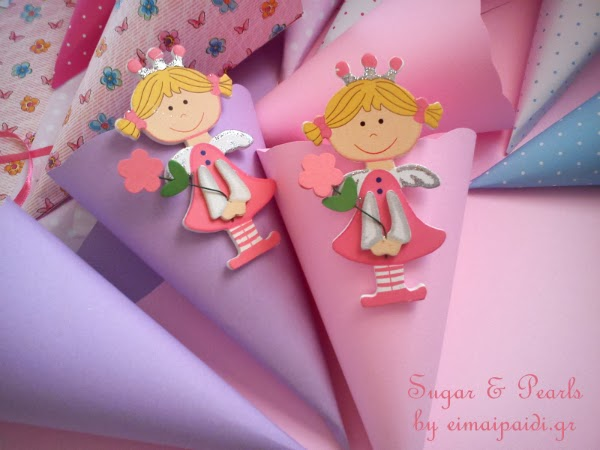 Χάρτινα χωνάκια-by Sugar & Pearls