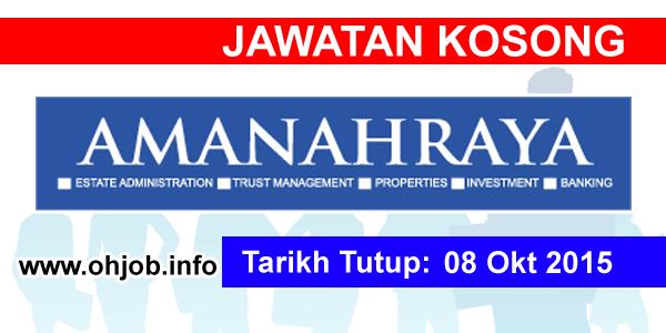 Jawatan Kerja Kosong Amanah Raya Berhad logo www.ohjob.info oktobe 2015