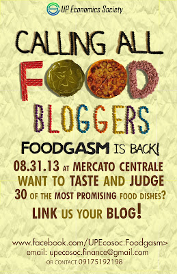 Call for Food Bloggers - FOODGASM III