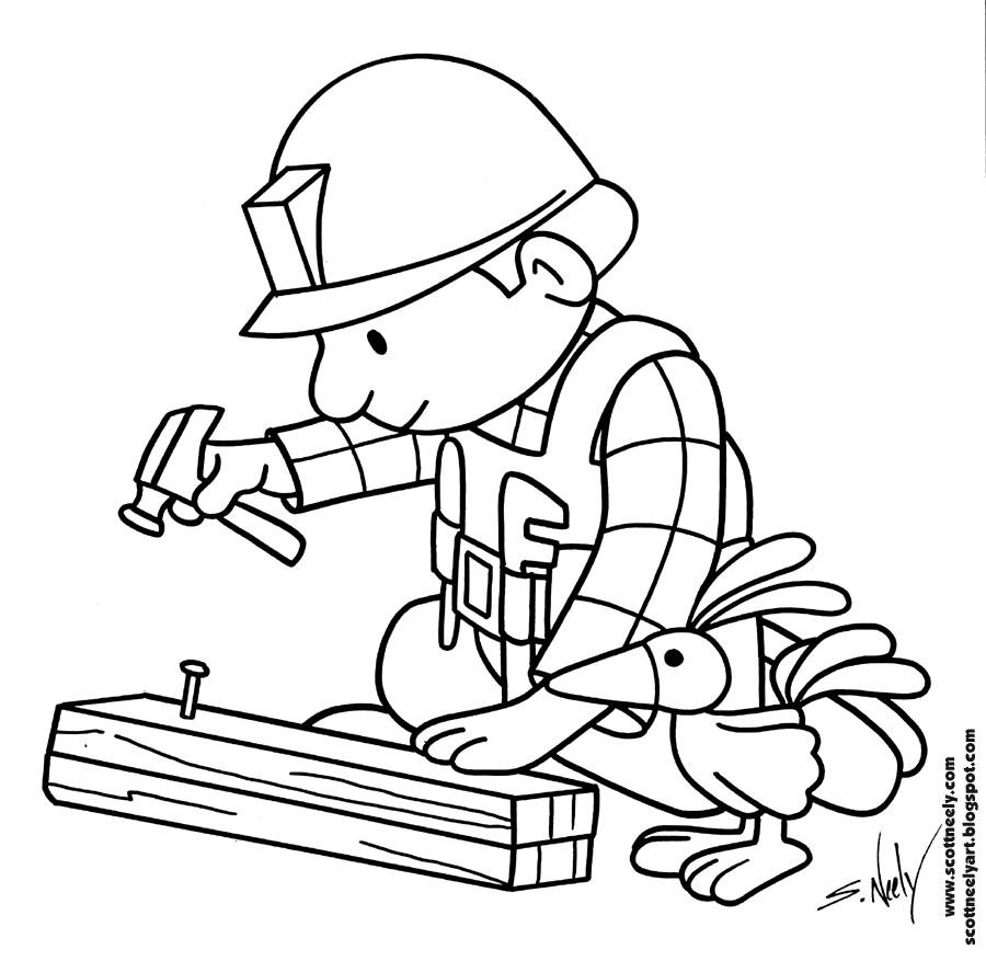 Increíble Bob El Constructor Para Colorear Páginas Elevadas ...