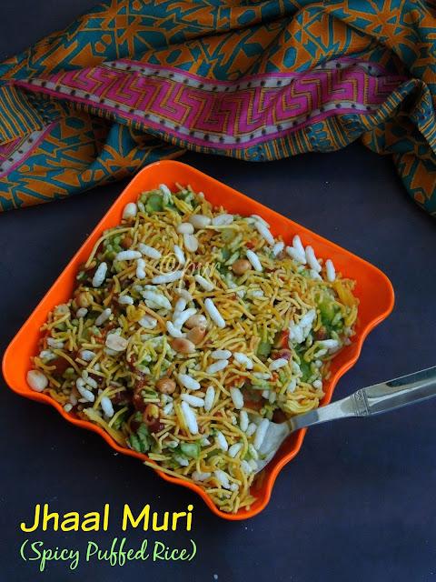 Jhaal Muri, Spicy puffed rice,Bengali Jhalmuri