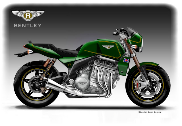 BENTLEY V6 ROADSTER | Bentley v6 Roadster Cafe Racer | Concept Motorcycles | Cafe Racer | V6 Motorcycle | 6 cylinder Motorcycles | concept Rendering
