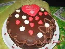 Dupla csokis szülinapi torta