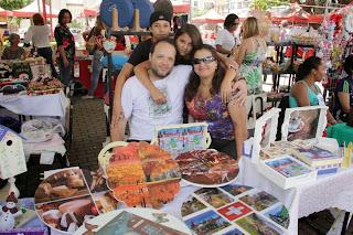 Para Patrícia Favre, que expôs ao lado de toda a família, a feira foi uma grande chance de crescimento profissional