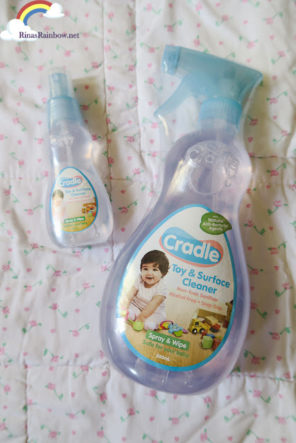 cradle toy and surface cleaner