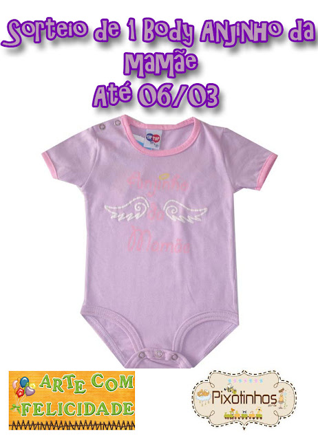 PIXOTINHOS: Sorteio de 1 BODY INFANTIL