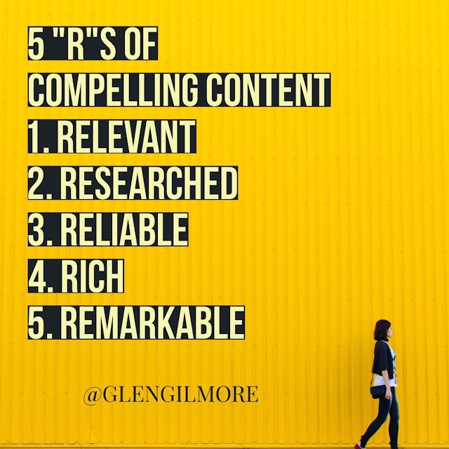5 R in #content marketing